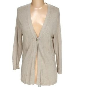 Margaret O'leary Beige Cardigan Size Small